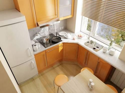 угловая кухня 9 кв м фото